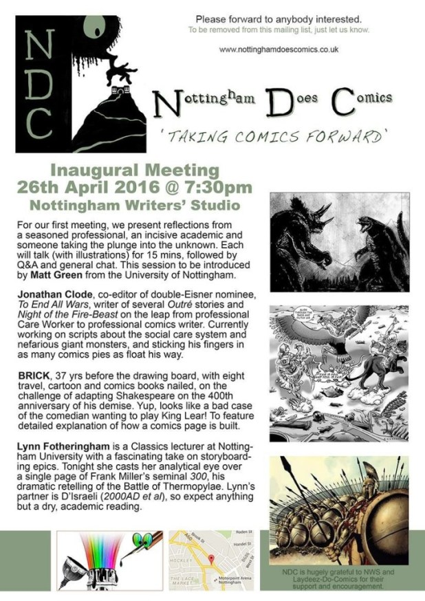 Nottingham Does Comics Promotional Leaflet - First Meeting