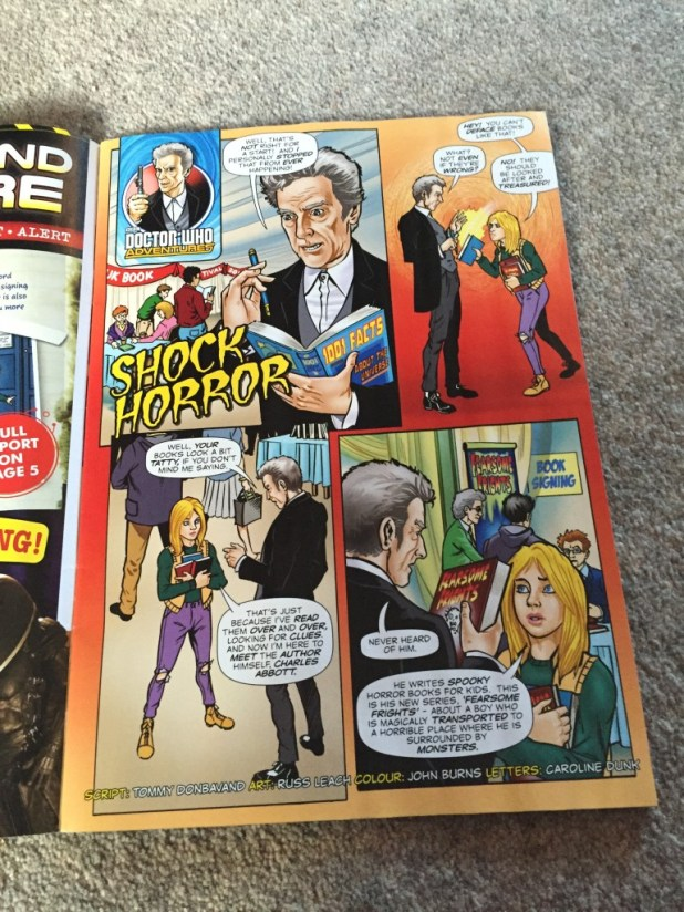 """Doctor Who Adventures #13 - """"Shock Horror"""" Page 1"""