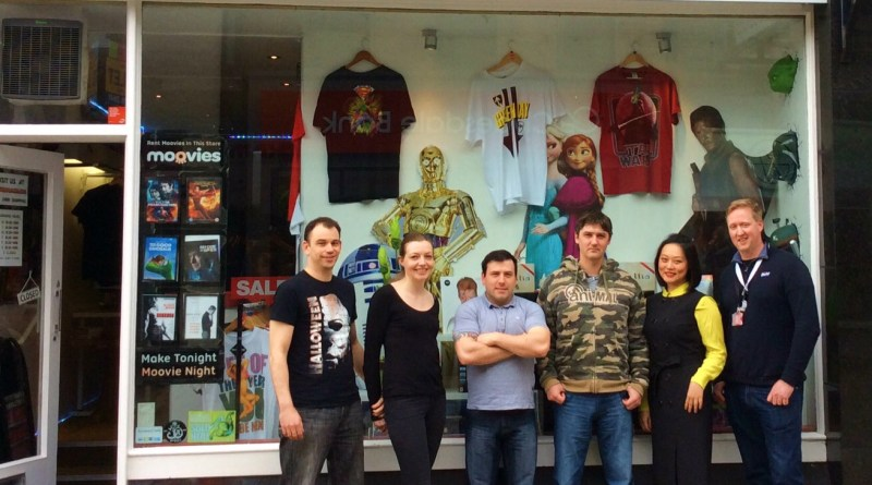 The new Fort Con organisers. From left to right: Robbie Jordan, Fiona Jordan, Stewart Mcmaster, Paul Graham, Jin Huang and Ben Belton.