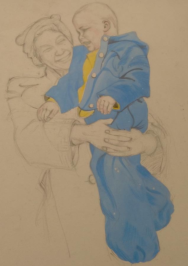 Blue jacket. Art by Gordon Livingstone