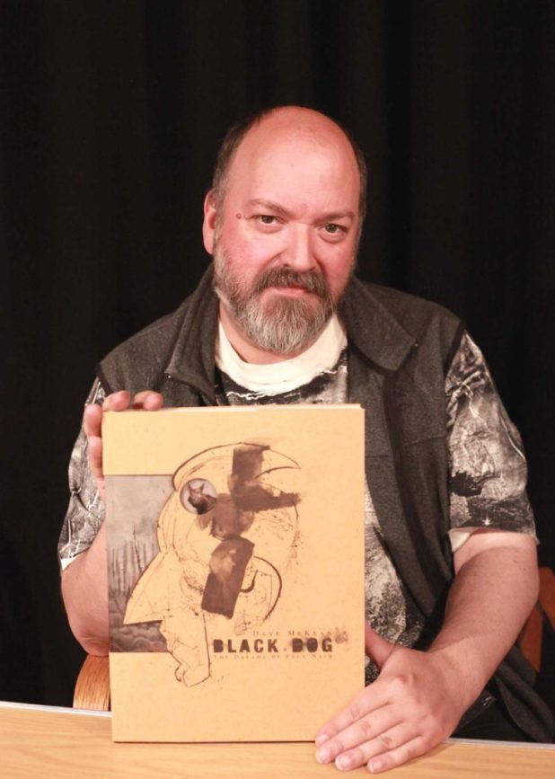 Dave McKean with a copy of the Black Dog limited edition. Photo: Chris Dissent/ Creative Concern