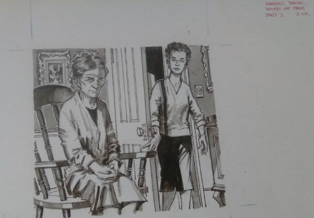 """""""House of Fear"""" Part 2 for Secrets magazine. Art by Gordon Livingstone"""
