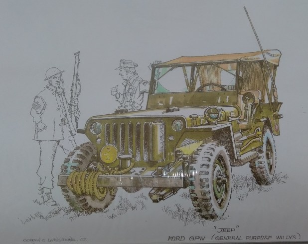 Jeep in colour, 2002, by Gordon Livingstone
