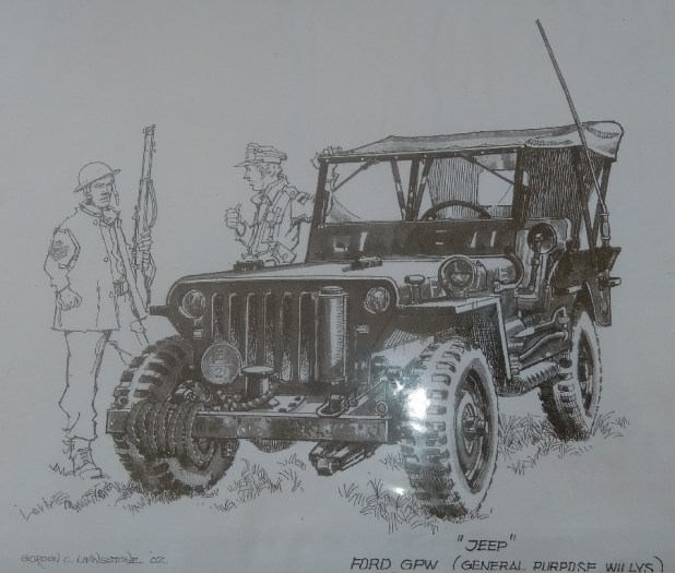 Jeep. Art by Gordon Livingstone