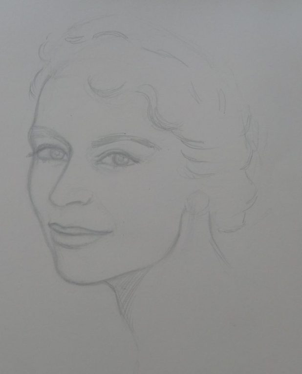 Lady - Pencil Sketch. Art by Gordon Livingstone