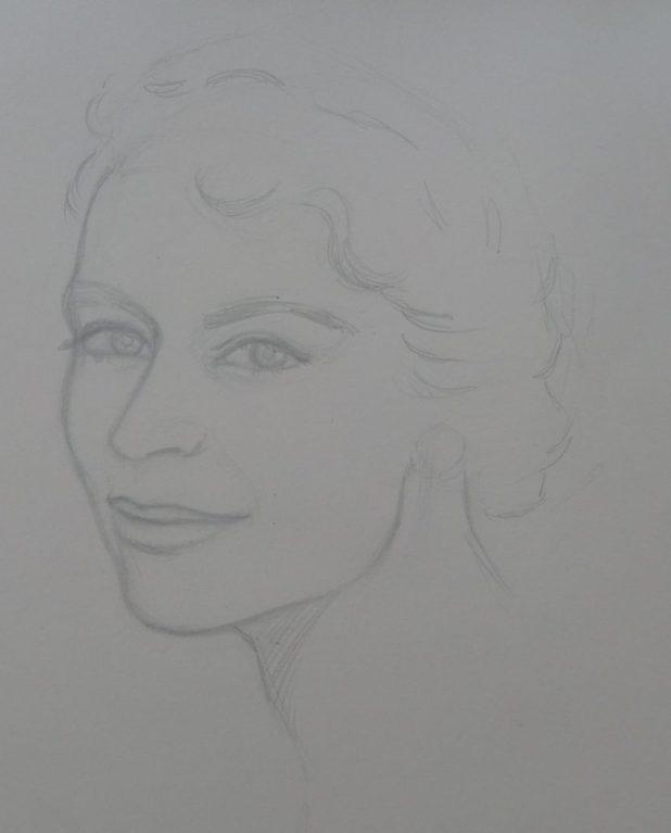 Lady - Pencil Sketch. Art by Gordon Livingstone