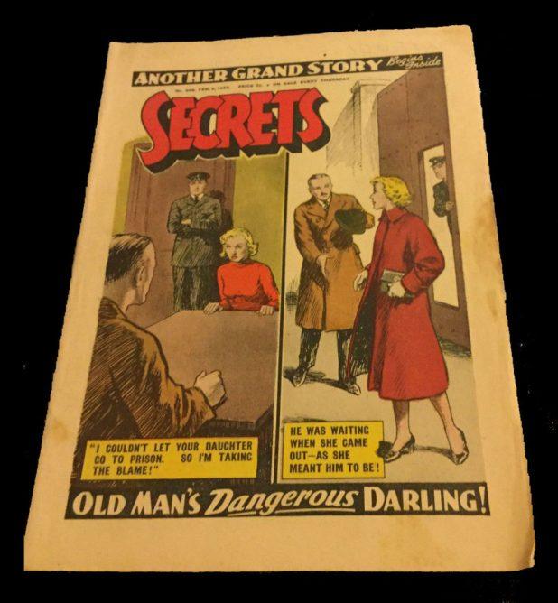 An example of DC Thomson's Secrets magazine. Photo courtesy Andrea's Vintage Antiques