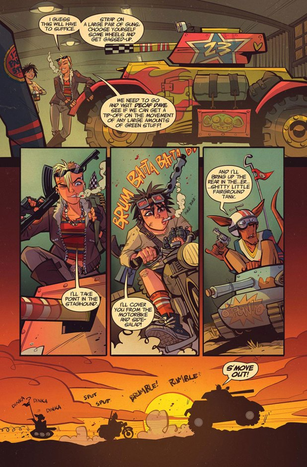 Tank Girl: Two Girls One Tank #1 - Sample Art