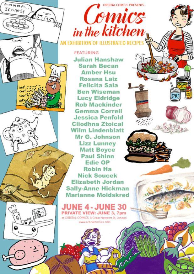 Comics in the Kitchen Exhibition - Orbital Comics, June 2016