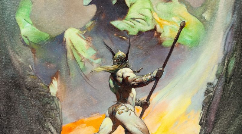"Frank Frazetta The Norseman Painting Original Art (1972). The early 1970s were a strong and prolific period for this master painter. Frazetta produced at least 11 paintings in 1972, and ""The Norseman"", with its stunning combination of vivid colours, is as mesmerising as it is powerful."