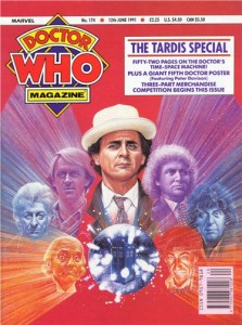 Doctor Who Magazine 174. One of my favourite covers, by Alister Pearson