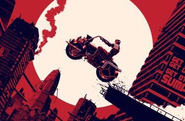 Vice Press releases awesome Judge Dredd Block War screen print by Matt Ferguson