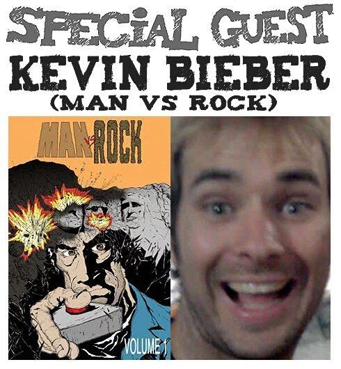 Awesome Comics Podcast Episode 47 - Kevin Bieber and Man vs Rock!
