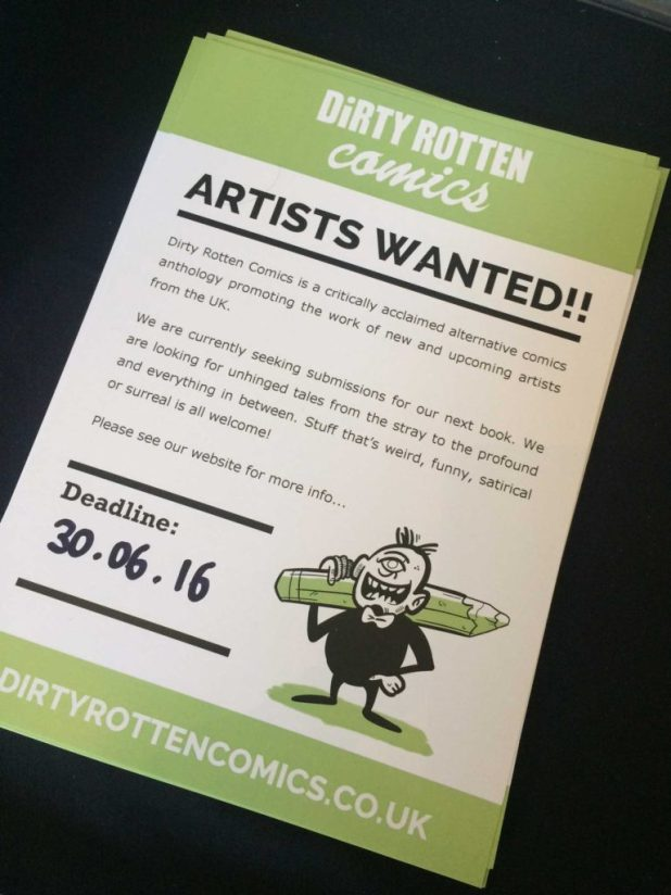 Dirty Rotten Comics: Artists Wanted!