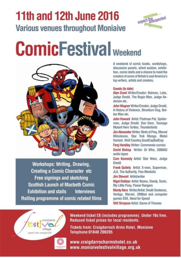 Moniaive Comic Festival Weekend 2016