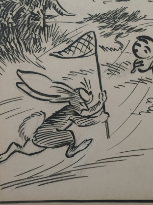 "Detail of art from Daily Mirror's much-loved ""Pip, Squeak and Wilfred"" strip"