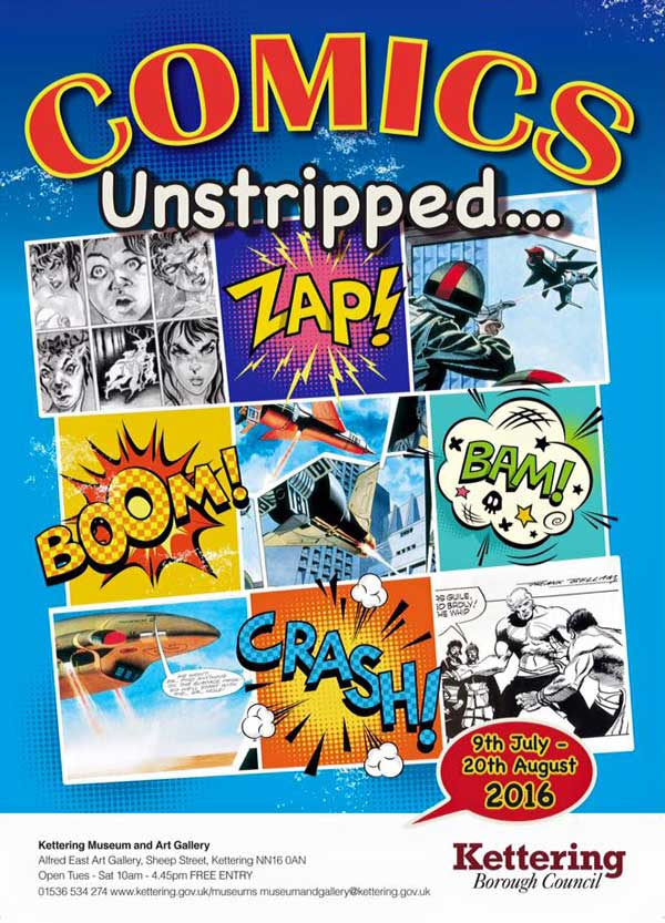 Comics Unstripped Exhibition Leaflet - 2016