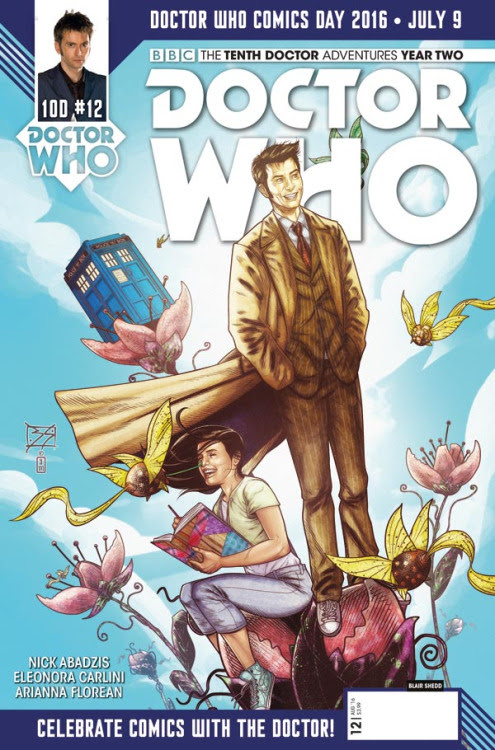 Doctor Who: Tenth Doctor Year Two #12 variant by Blair Shedd