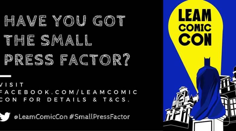 Leam Comic Con Small Press Factor Banner