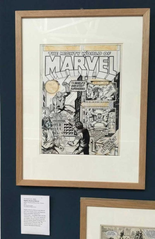 The Mighty World Of Marvel  #3 Cover Art by Jim Starlin. Photo: Alan Russell
