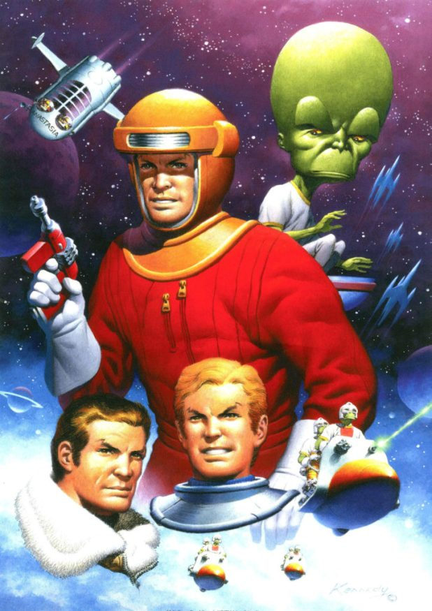 Spaceship Away 39 - Dan Dare Poster by Ian Kennedy