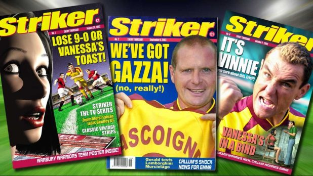 The fun but short-lived Striker comic, launched thanks to £200,00 raised through fan support