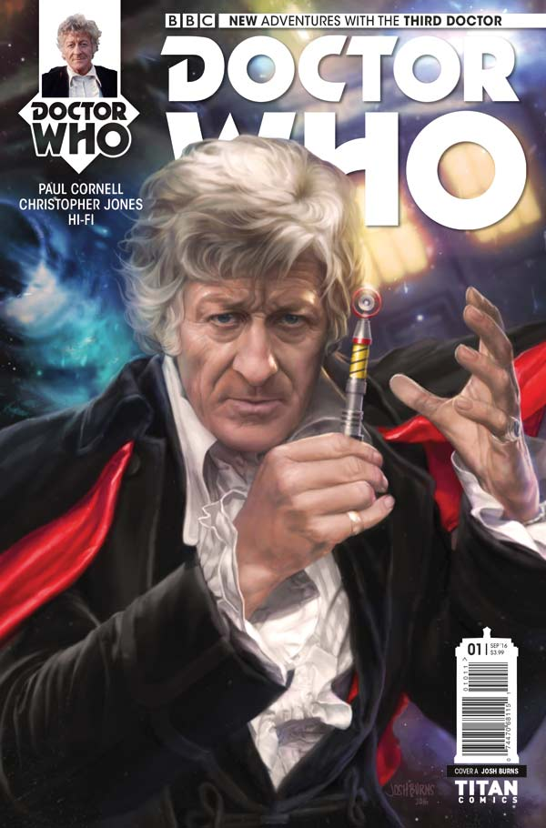 Doctor Who: The Third Doctor - Cover A by Josh Burns