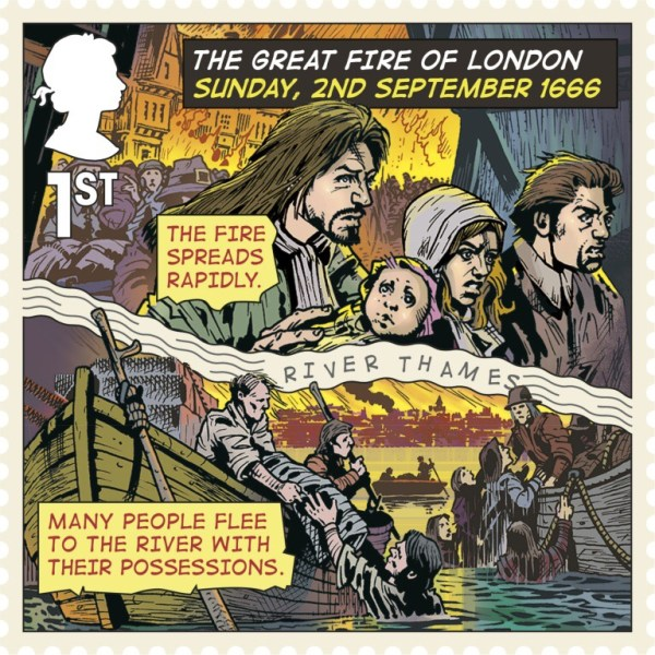 Great Fire of London Stamp -  Stamp First Class