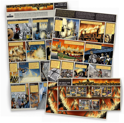 Great Fire of London Stamp -  Presentation Packs