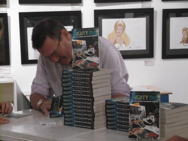 Steve MacManus signing at Orbital Comics. Photo: Richard Sheaf
