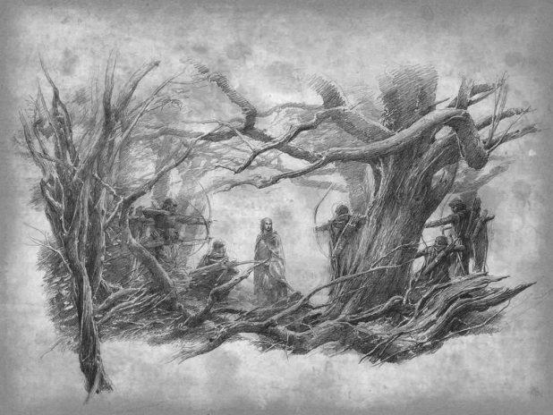 Tolkien-inspired art by watercolour artist Alan Lee