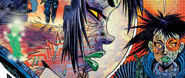 "Art by Rufus Dayglo from ""Counterfeit Girl"" in 2000AD Prog 2006"
