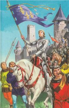 Martin Aitchison's first work for Ladybird Books, Joan of Arc in The First Book of Saints, published in 1955