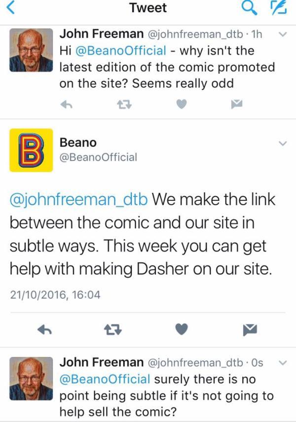 Beano.com Mystery 2016
