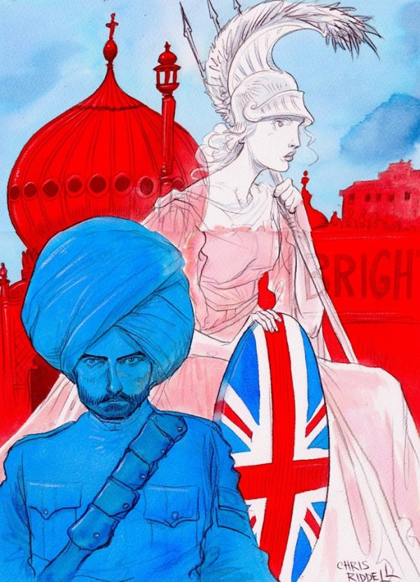 Brighton's Graphic War Cover - art by Chris Riddell