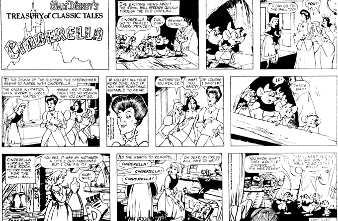 Disney's promotional newspaper strip, released to newspapers before the film's debut in 1950.
