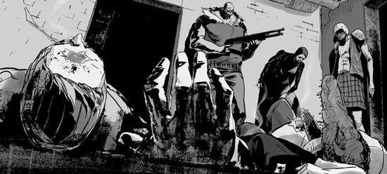 Tales Of Mega-City One- Law In Exile. Written by Santiago Mayaud, art by Daniel Dwyer, letters by Bolt-01