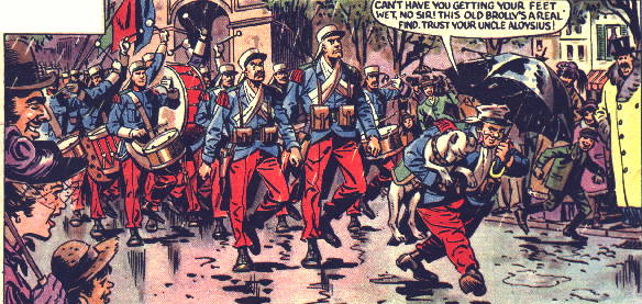 "A panel from the Eagle strip ""Luck of the Legion"" by Geoffrey Bond and Martin Aitchison"