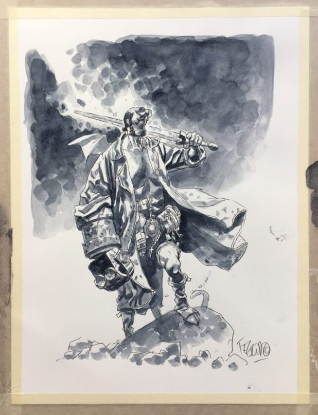 2016 Lakes International Comic Art Festival auction art: Hellboy by Duncan Fegredo