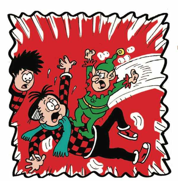 Roger the Dodger: Roger gets slammed by an angry elf!