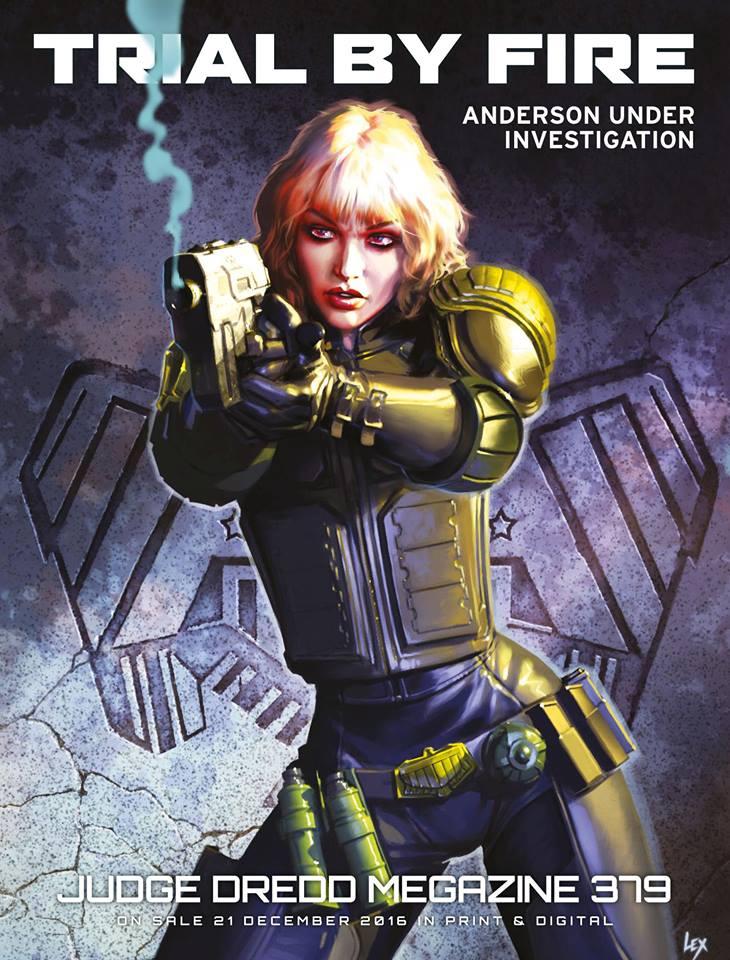 Judge Dredd Megazine 379. Cover by Alex Ronald