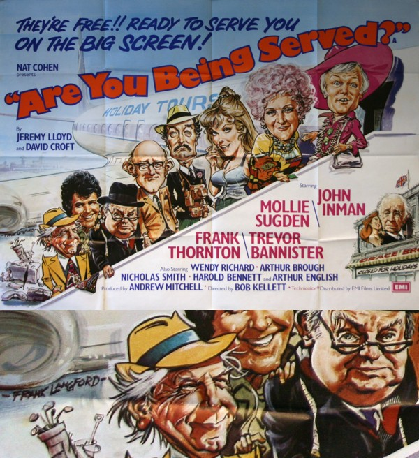 Are You Being Served Film Poster by Frank Langford