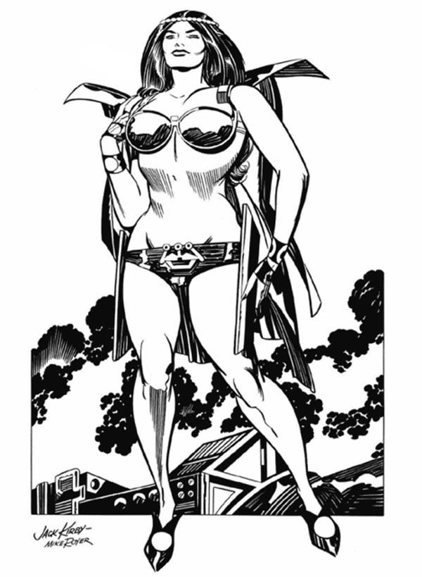 Big Barda - Pencils: Jack Kirby - Inks: Mike Royer