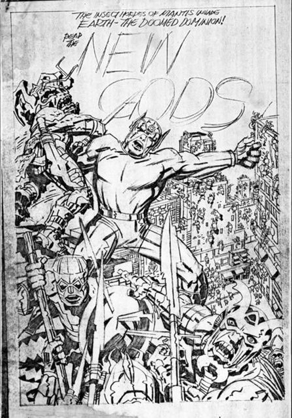 New Gods Issue #10 Cover - Pencils: Jack Kirby