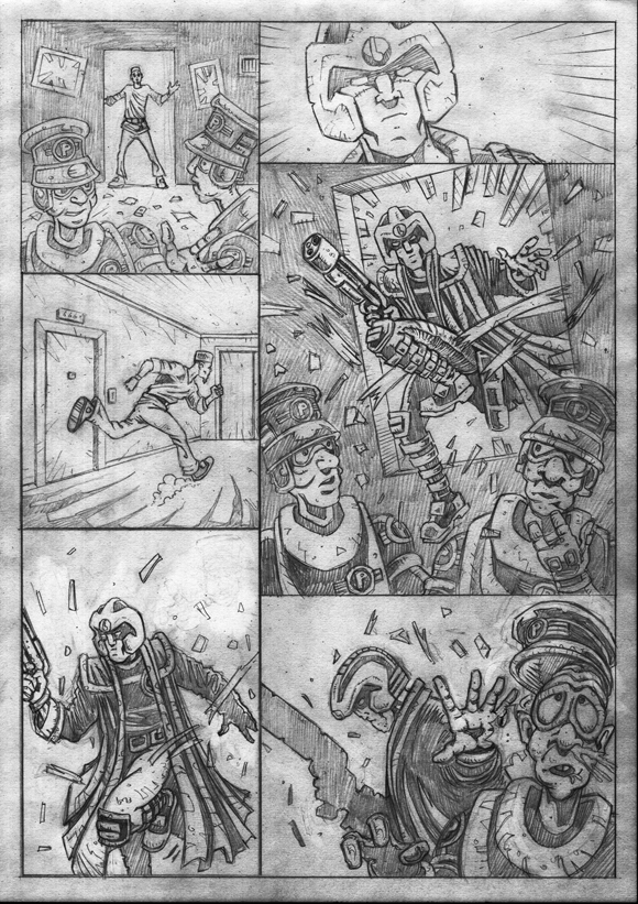 "Strontium Dog ""No Choice At All""  - Pencils 2"