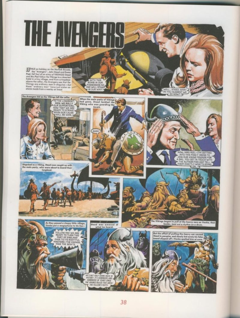 The Avengers - Steed & Mrs Peel - The Comic Strips - Sample Page