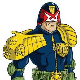 Dredd Character design by Mick Cassidy