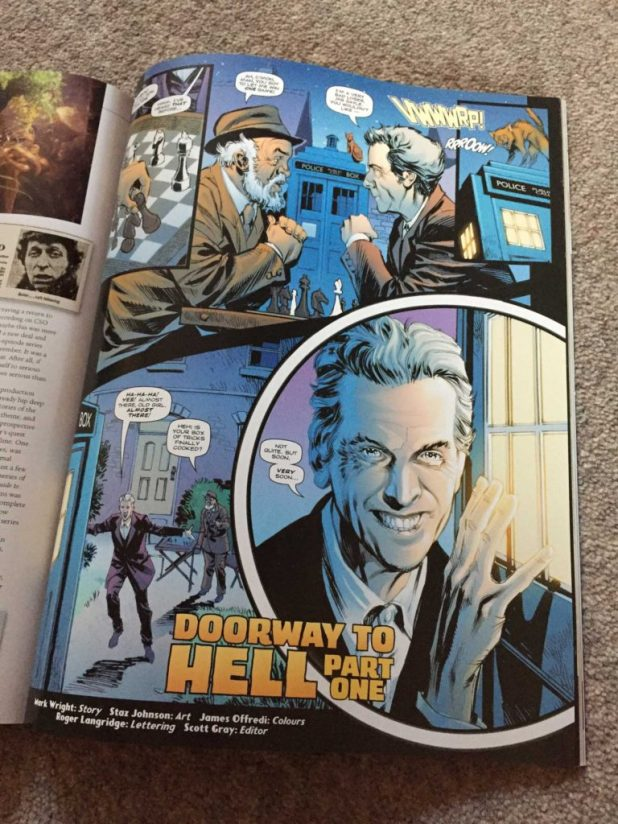 "Staz Johnson brings the Twelfth Doctor to glorious life in the first part of ""Doorway to Hell"""