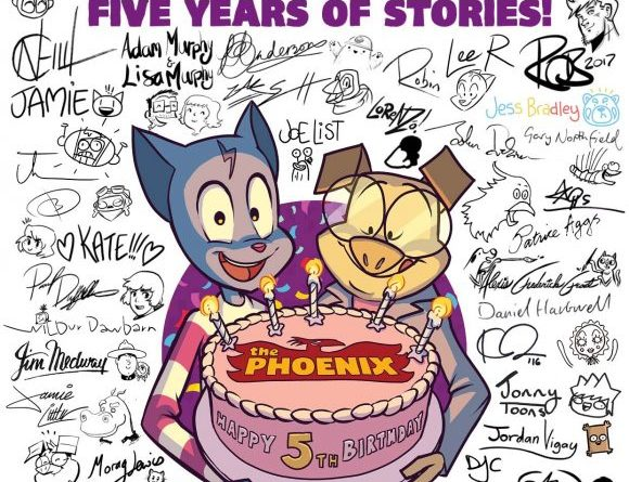 Here's a special poster of the fifth anniversary Phoenix cover