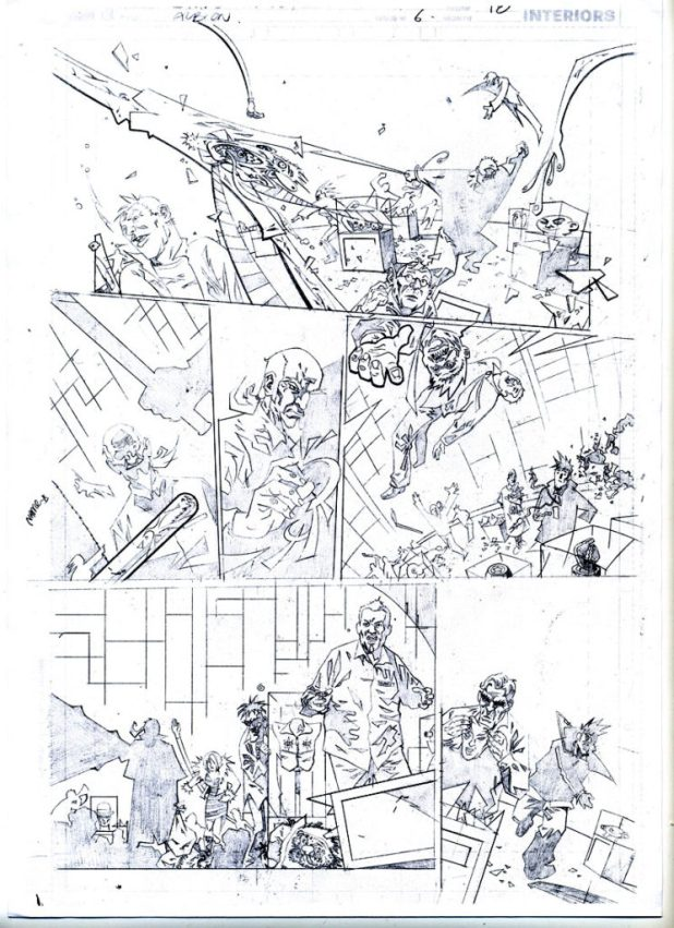A sample of Shane's stunning pencils for Albion.